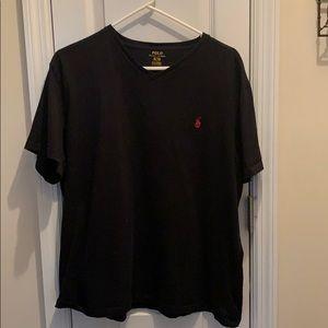 EUC black v neck polo
